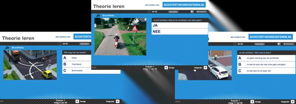 Gratis scooter theorie oefenen